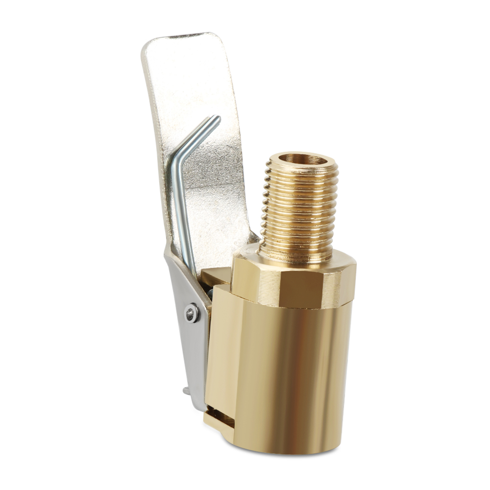 2pc Inflator Pump Pure Copper Nozzle Quick Adapter Car Inflator Accessories