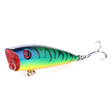 1pcs 6.3g 60mm 3D Eyes Pencil Topwater Pike Fishing Lures Saltwater Minnow Wobblers