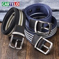 CARTELO-cinturón táctico de viaje con hebilla para hombre, cinturón ajustable de 100cm y 120cm para exteriores