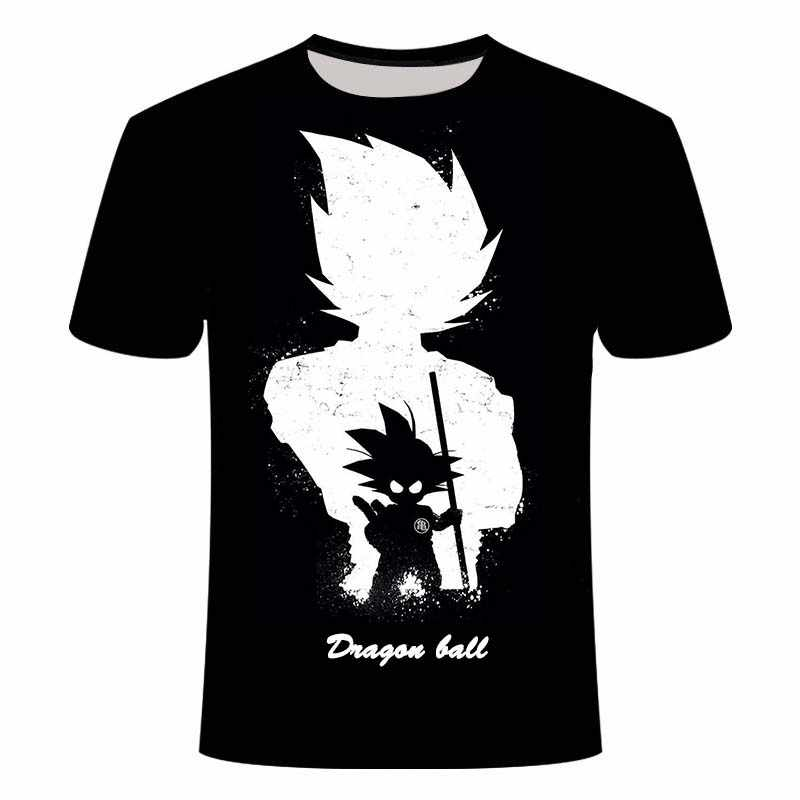 Manga Dragon Ball Z Super Saiyan Son Goku Anime Zomer 3D Afdrukken Laatste Mode T-shirt Top Mannen/Jongens Cartoon casual T-shirt