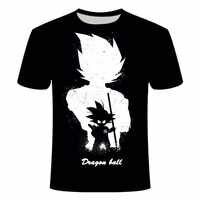 Camiseta de Manga corta con estampado 3D de Dragon Ball z, camiseta informal de dibujos animados para hombre y niño, Son Goku Super Saiyan, Verano
