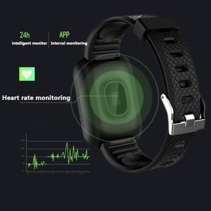 Image 2 - Rovtop Smart Uhren 116 Plus Herz Rate Monitor Blutdruck Smart Armband SSmart Band Smartwatch Android Iphone