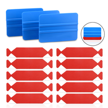 FOSHIO 10pcs Carbon Fiber Vinyl Squeegee Slim Fabric Cloth+3pcs Car Wrap Scraper Wrapping Window Tint House Cleaning Tool