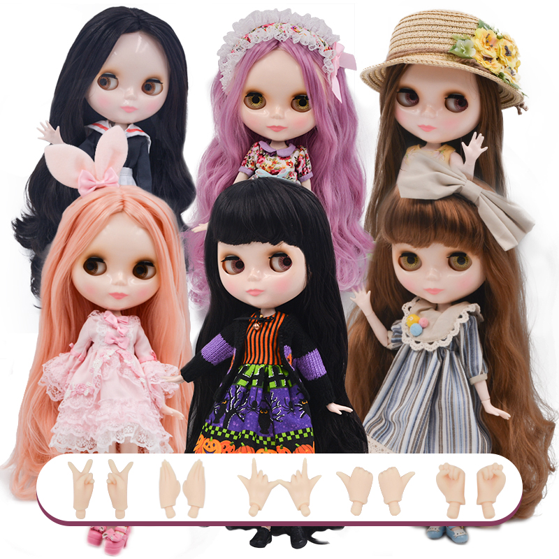 Neo Blyth Doll NBL Customized Shiny Face,1/6 BJD Ball Jointed Doll Ob24 Doll Blyth For Girl, Toys For Children NBL21