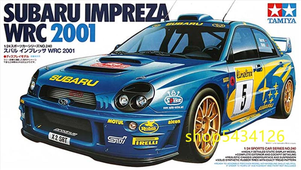 Tamiya 24240 Kits de construcción modelo de coche a escala 1/24 Subaru Impreza WRC 2001, juguete de montaje de coche de carreras Cubierta de parabrisas de coche LEEPEE, Protector contra el polvo antinieve, escudo contra el hielo, cubierta solar para coche, pantalla frontal para ventana, pantalla para parabrisas de coche