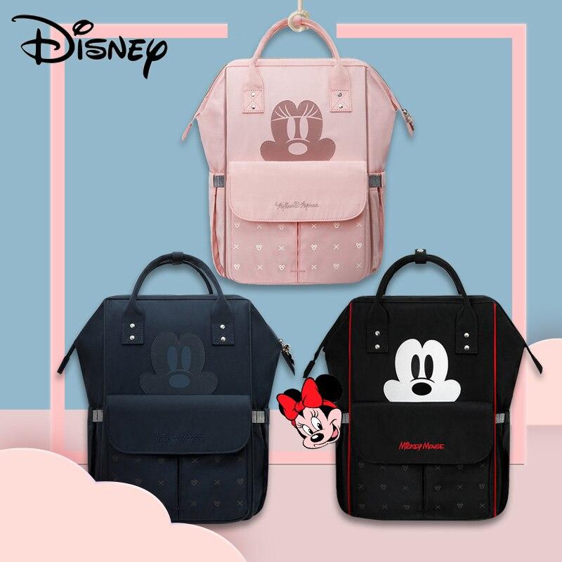 Disney sacs à couches imperméables pour maman voyage poussette sacs grande capacité maternité sac à dos Bebe bébé soins momie Nappy sac USB