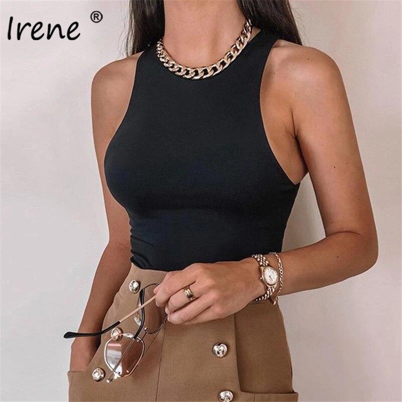 Irene O Neck obcisłe body damskie Off Shoulder Casual solidne letnie rękawy topy 2021Bodycon biały seksowny kombinezon pajacyki