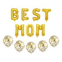 Ballon décoratif en aluminium pour fête des mères, 16 pouces, lettres dorées, roses, pour Thanksgiving, pour fête des mères