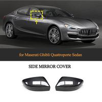 Real Carbon Car Rearview Mirror Covers Caps for Maserati Ghibli Quattroporte 2017 2019 Add On Mirror Covers Caps Dry Carbon