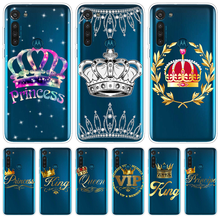 King Queen Crown Couple Case For Moto G8 G7 Power EU G6 G4 G5 G5S E5 Play Go Plus One Action Macro Vision P40 P50 Cover Silicone(China)