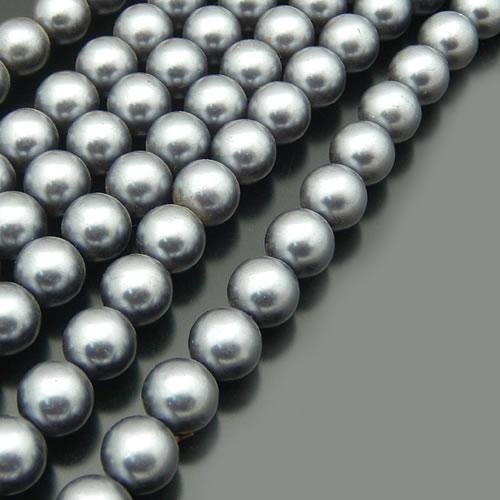 A011) 3 мм 4 мм 5 мм 6 мм 8 мм 10 мм 12 мм 14 мм 16 мм черный белый серый коричневый тон Круглые Стеклянные окрашенные цветные бусины имитация жемчуга - Цвет: Серый