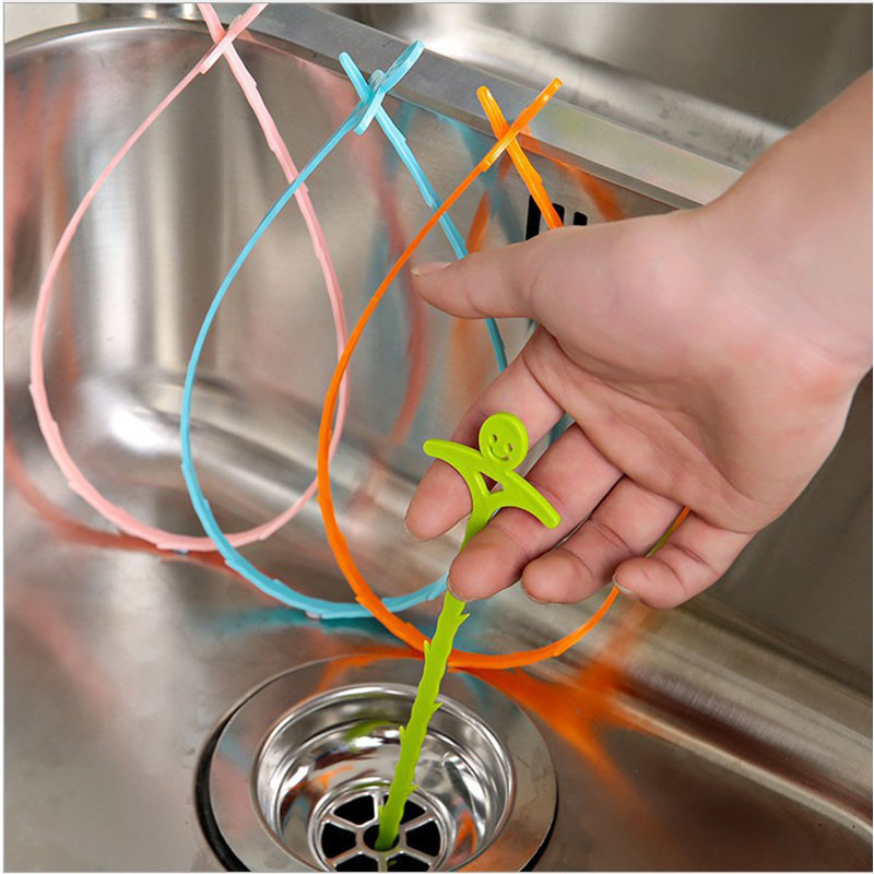 New Sink Cleaning Hook Bathroom Floor Drain Sewer Dredge Device Small Tools Caps Hair Stoppers Catchers Easy To Clean The Hair