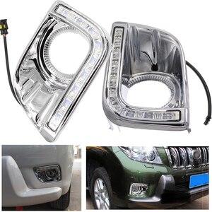 Image 1 - Driving Lights For Toyotas Prado 150 Fj150 Lc150 2010 2013 Land Cruiser Led Daytime Running Lights Drl Fog Lamp Cover