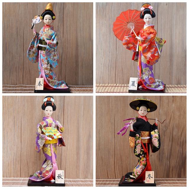 30cm Traditional Japanese Geisha Figurines Statues Japanese Kimonos Dolls Ornaments Home Restaurant Desktop Decoration Gifts 4