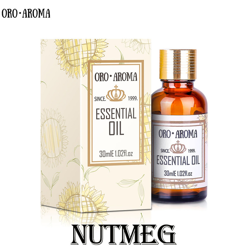 Famous brand oroaroma natural nutmeg essential oil massage Relieve neuralgia stimulate the circulation of blood nutmeg oil