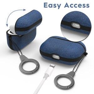 Image 5 - Bluetooth Oortelefoon Case Voor Airpods Pro Doek Patroon Anti Verloren Antislip Beschermende Cover Voor Air Pods 3 draadloze Headset Gevallen