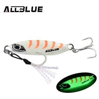 ALLBLUE New DRAGER Metal Cast Jig Spoon 15G 30G Shore Casting Jigging Lead Fish Sea Bass Fishing Lure  Artificial Bait Tackle 15