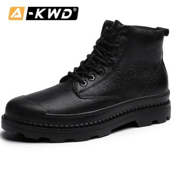 Fashion Work Shoes Men Bottines Homme Casual Men Winter Boots Elastic Band Men Boots Leather Sneakers Man Plus Size Men Footwear