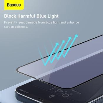 Закаленное стекло Baseus 2 шт. 0,23 мм для iPhone 12 11 Pro XS Max XR X 4