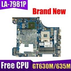 Akemy LA-7981P laptopa płyta główna dla For Lenovo G580 oryginalna HM76 GT630M/GT635M darmowe CPU