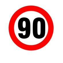 16*16 см Скорость знак ограничения 90 км/ч автомобильная наклейка