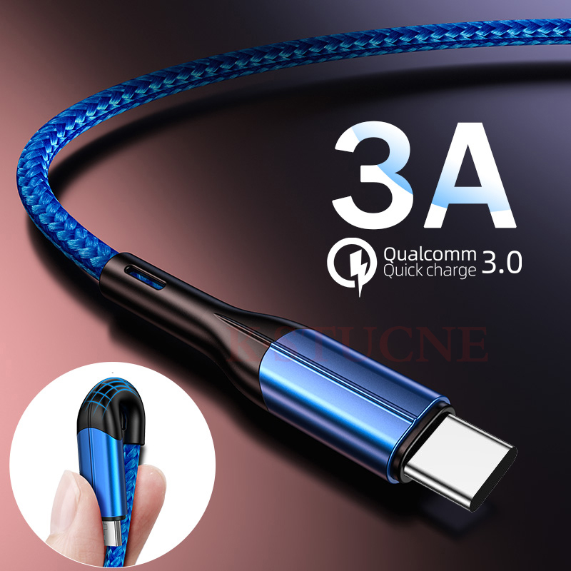1m 2m Type C USB Cable Fast Charging For Xiaomi Redmi K20 Pro Note 7 Charger USBC Cable For Samsung Mobile Phone Data Cables