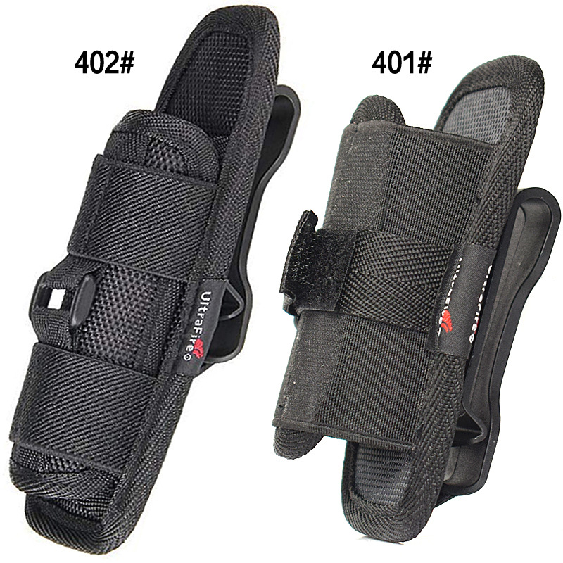 Flashlight Holster Baton Holder Nylon Duty Flashlight Holder Belt Carry Case For Tactical Flashlights (2PCS)
