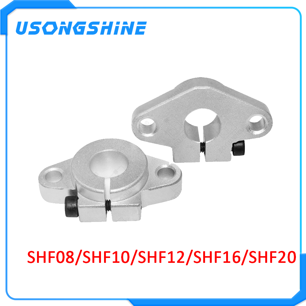 SHF20 20mm Linear Rod Rail Shaft Support FOR XYZ Table CNC Router Mill 2 PCS