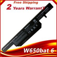 W650bat 6 Hasee K610C K650D K570N K710C K590C K750D 시리즈 Clevo W650S W650BAT 6 배터리