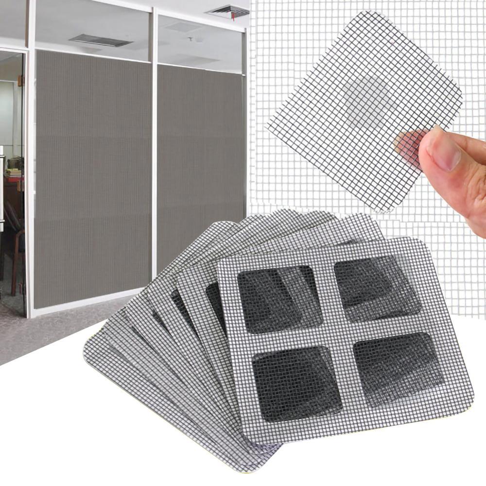 5/12/18 Pcs Door Window Screen Repair Kit Strong Holes Cover Mesh Repair Tools Accessories 4 X 4 Inches