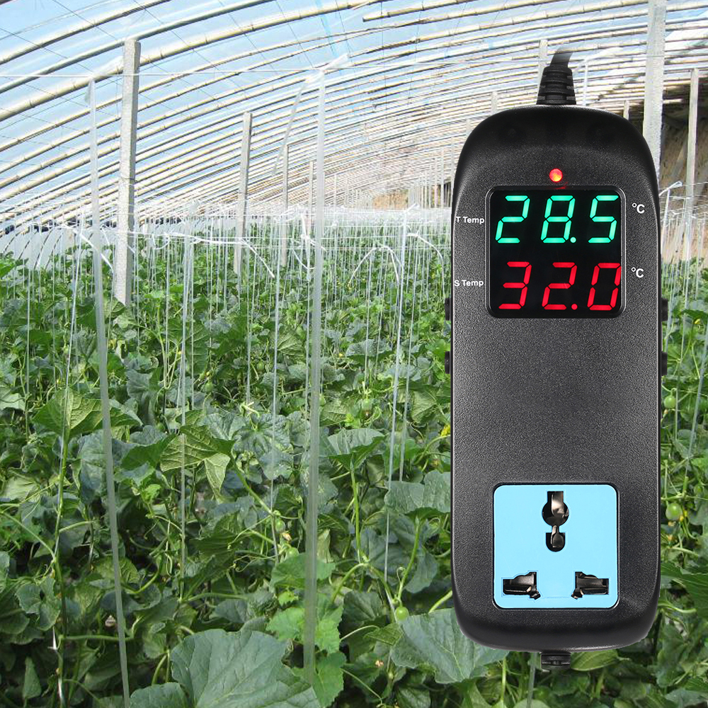 LED Digital Display Temperatur Controller Thermostat mit Temperatur Sensor für Automatische Heizung Kühlung Control AC90V ~ 250V