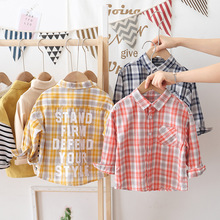 Spring Autumn New Boys Long Sleeve Classic Plaid Lapel Shirts Tops with Pocket Baby Boys Girls Casual Shirt jchao Kids Clothing girls plaid blouse 2019 spring autumn turn down collar teenager shirts cotton shirts casual clothes child kids long sleeve 4 13t