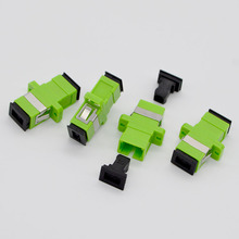 500pcs NEW Hot GONGFENG Split Telecom Grade SC/APC Optical Fiber Connector Adapter Coupler Flange Special Wholesale TO Russia