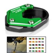Para kawasaki versys650 versys 650 2010-2019 2018 2017 2016 suporte lateral da motocicleta placa almofada kickstand ampliador extensão de apoio