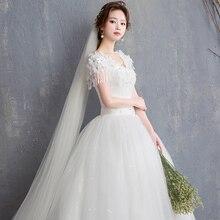 Flower Lace Tulle Wedding Dresses Elegant Plus size Cheap bride dress plus size maxi formal size 2-26W Stock Vestidos de novia lace plus size maxi prom princess wedding dress