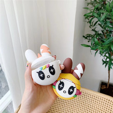 For AirPod 2 Case 3D Funny Rabbit Cartoon Soft Silicone Wireless Earphone Cases Apple Airpods Cute Cover Funda