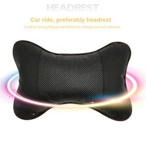 Image 5 - 1pc עור לנשימה רשת אוטומטי רכב צוואר מנוחת משענת ראש כרית כרית חדש רכב ראש שאר מושב רך Hendrest כרית אבזרים