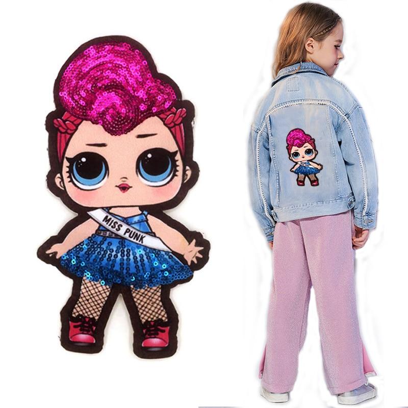 Cartoon Patches Women Fashion LoL Doll Girls Lovely  Fashion Boy Doll Embroidery Patch DIY Garment Decoration Sequins Cloth