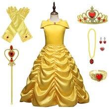 Vestido de princesa para niña, disfraz de Cosplay de verano para niñas de 6, 8 y 10 años, ropa de Halloween