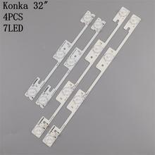 20 pces originais para konka kdl32mt626u 10 pces 4led & 10 pces 3led 35019055 35019056 barra de luz 32 polegada luz de fundo lâmpada tira conduzida 6v