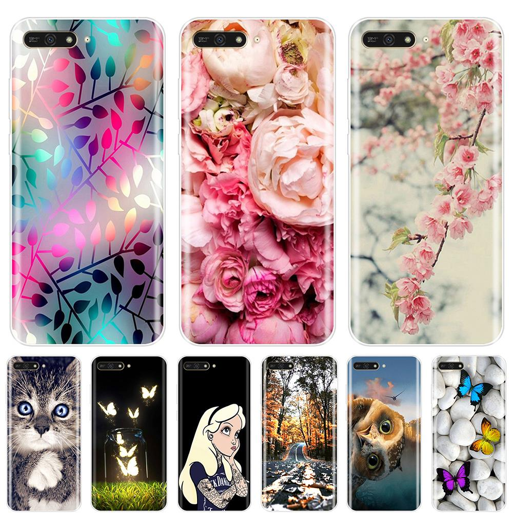 Phone Case For <font><b>Huawei</b></font> Y5 Y6 <font><b>Y7</b></font> <font><b>Prime</b></font> 2017 2018 Y9 <font><b>2019</b></font> Soft TPU Fashion <font><b>Back</b></font> <font><b>Cover</b></font> For <font><b>Huawei</b></font> Y3 Y5 Y6 II <font><b>Y7</b></font> Pro Case Silicone image