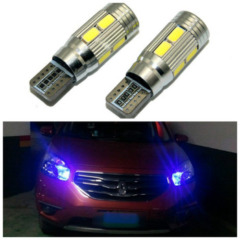 2X Led W5W T10 canbus Car Light with Projector Lens for Renault Trafic Safrane megane 2 duster logan laguna Koleos Scala Stepway image