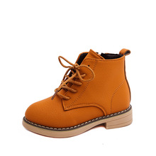Buy Spring Autumn Boys And Girls Boots Children's Martin boots Kids Boots Girls Casual Leather Shoes 4 5 6 7 8 9 10-14T Black Brown directly from merchant!
