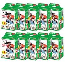10 200 blätter Fujifilm instax mini 9 mini11 film weiß Rand 3 Zoll breite film für Instant Kamera mini 8 7s 25 50s 90 Foto papier