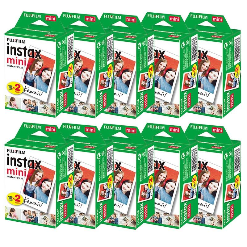 10-200 hojas Fujifilm instax mini 9 película borde blanco 3 pulgadas de ancho película para cámara instantánea mini 8 7s 25 50s 90 papel fotográfico Collar con foto personalizada con imagen grabada personalizada y colgante de joyería para mujer
