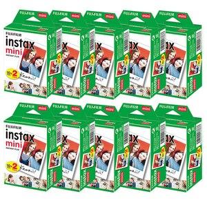 Image 1 - 10 200 sheets Fujifilm instax mini 9 mini11 film white Edge 3 Inch wide film for Instant Camera mini 8 7s 25 50s 90 Photo paper