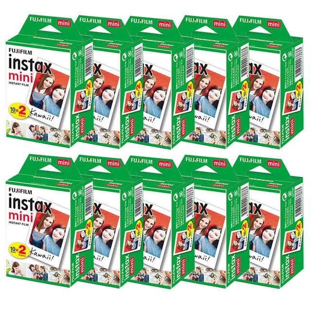 10 200 sheets Fujifilm instax mini 9 mini11 film white Edge 3 Inch wide film for Instant Camera mini 8 7s 25 50s 90 Photo paper