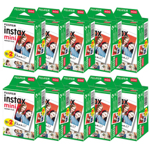Fujifilm Película para cámara instantánea instax mini 9 mini11, 10 200 hojas, borde blanco, 3 pulgadas de ancho, mini 8 7s 25 50s 90, papel fotográfico