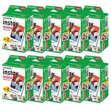 Пленка Fujifilm instax mini 9 mini11, 10 200 листов, белая, 3 дюйма, широкая пленка для мгновенной камеры mini 8 7s 25 50s 90, фотобумага