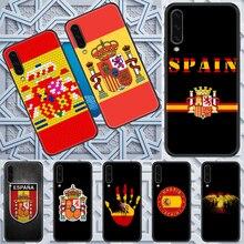 Espanha bandeira nacional caso de Telefone Para Samsung Galaxy UM 3 5 7 8 10 20 21 30 40 50 51 70 71 E S 2016 2018 4G preto art prime 3D capa